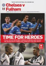 YOUTH CUP FINAL 2014 CHELSEA v FULHAM 2nd LEG PROGRAMME 2013/14