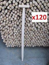 "120 X Spade, Fork, Shovel, Replacement Wood T Shaft / Handle 35"" (90cm)"