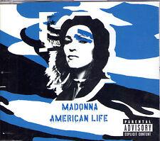 MAXI CD SINGLE 3T MADONNA AMERICAN LIFE DE 2003 POCHETTE BLEUE EDIT. LIMITEE