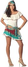 Lady Sexy GYPSY ROSE Costume Womens Top Skirt Head Scarf Sash Adult XS Small 0 2