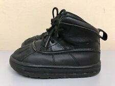 Nike 524874 001 Woodside 2 Black Leather Baby Toddler High Boots Acg size 7C