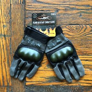 Wiley X Tac Assault Glove CAG-1 Flame Resistant Hard Knuck with Kevlar Green Med