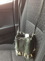 """Vintage cross body bag Hunter Green By """"Ashru"""" ~Genuine Leather...Made In India"""