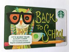 STARBUCKS Gift Card / Geschenkkarte 'BACK TO SCHOOL' USA 2015 - NEW