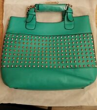 Ladies Designer Fashion Faux Leather Studded Handbag Shoulder Bag