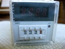 Omron H5CN-XBN Digital Timer with Socket 12-48VDC 3A 250VAC Load Made in Japan