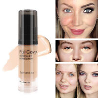 CW_ Waterproof Long Lasting Liquid Foundation Full Cover Face Concealer BB Cream