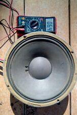 JBL K120 Alnico Vintage Guitar Speaker 8ohm Original Cone, Paper Dust Cover.