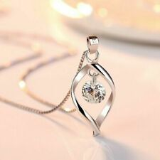2019 Girls Cute Neckless Women Simple Solid Silver Necklace Ladies Box Chain Col