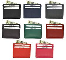 Genuine Leather Minimalist Front Pocket Slim RFID Blocking Sleeves Wallet