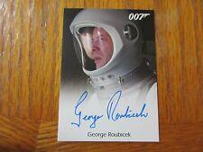 James Bond Archives 2016 SPECTRE George Roubicek as Astronaut Autograph Card