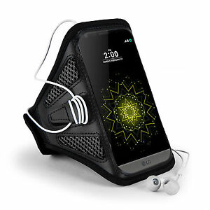 Black Mesh Running Sports GYM Armband for LG G8 G7 ThinQ LG Neon Plus K20 K30