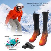Beheizbare Socken Thermosocken Winter Fußwärmer Elektrisch Sportsocken Unisex