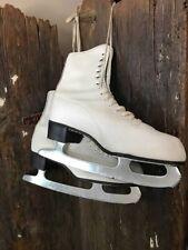 Vintage Ice Skates Womens White Figure Skate Winter Christmas Decoration Display