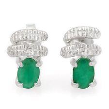 Ohrringe/Ohrstecker Jenna, 925er Silber, 1,05 Kt. echter Smaragd/Diamant