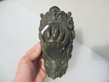 Antique Brass Billiards Snooker Pocket Hole Victorian Old Rococo Hand Ball
