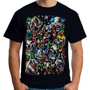 Velocitee Mens T-Shirt Evil Clowns Joker Circus Horror Goth Gothic Clown A11247