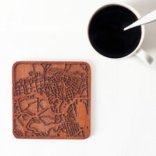 Dubai map coaster One piece  wooden coaster  Multiple city IDEAL GIFTS