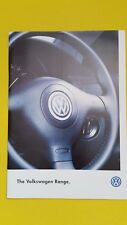 Volkswagen Golf Polo Passat Sharan range car brochure catalogue 1997 MINT VW