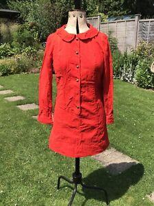 Authentic Vintage 1960s 70s Orange Mini Dress Wallis Retro Size 12