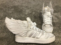 Adidas Jeremy Scott, JS wings 2.0, White Satin, v20699, Size 9, RARE!