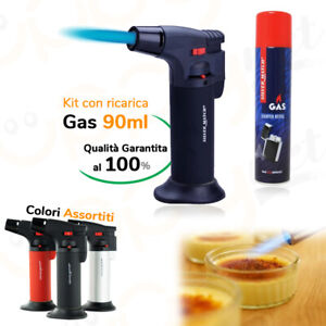 Kit Caramellizzatore caramellare Piezo Accendino bluematch Mini Cannello + Gas