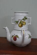 Royal Worcester Evesham Teapot With Strainer Infuser Missing Lid