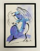 PAINTING ORIGINAL ACRYLIC ON CANVAS PAD (FRAME INCLUDED) CUBAN ART by LISA.