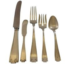 Etruscan by Gorham Sterling Silver Flatware Service For 6 Set 32 Pieces Dinner