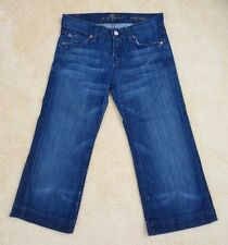 7 For All Mankind Womens Crop Dojo Jeans Size 24 Capris Pants Dark Wash