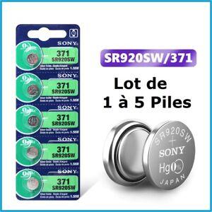 Lot Pile Bouton Montre SR920SW / SR920 / 371 / AG6 / SONY / ENVOI RAPIDE