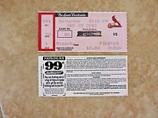 St Louis Cardinals Vs Pittsburgh Pirates 2001 Game 80 Used Ticket Stub