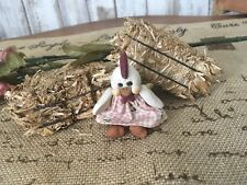 Mini Doll Hand Sculpted Artist Signed  Polymer Clay Jointed ~CHICKEN~