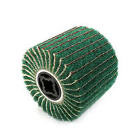 5 In Non-woven Abrasive Flap Wheel Wire Drawing Polishing Burnishing Wheel 80#