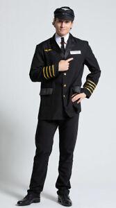 Womens Mens Pilot Captain Costume