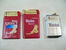 3 Winston (Select & Lights) Cigarette Lighters Super Slim and Box
