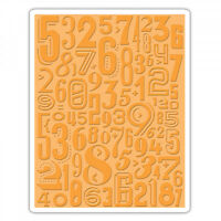 Sizzix Tim Holtz Alterations Texture Fades Embossing Folder Numeric 661827