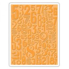 Sizzix Tim Holtz Alterations Texture Fades Embossing Folder Numeric 661827