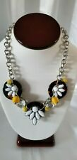 TALBOTS WHITE & YELLOW FLORAL NECKLACE