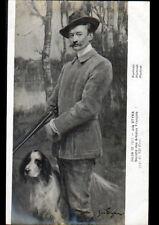 ART PEINTURE / PORTRAIT de CHASSEUR avec CHIEN par Polonais Jan STYKA en 1911