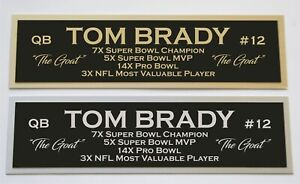 Tom Brady nameplate for signed autographed jersey football helmet or photo