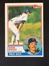1983 Topps Wade Boggs Rookie RC #498 NM HOF Boston Red Sox *61