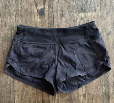 IVIVVA Lululemon Solid Black Short Girls Yoga Speed Run Speedy Shorts size 10