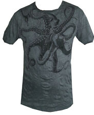 short sleeve men t shirt Yoga Octopus Sea Nature Ocean Retro Hippie Sure  XL new