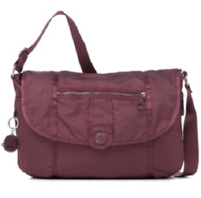 NWT Kipling Shoulder Bag - Tea Berry - With Plastic Monkey Face Key Chain