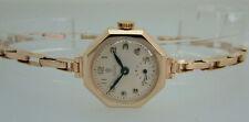 Rolex Tudor Ladies Solid Gold Vintage Watch + Rolex Gold Bracelet, Box Serviced