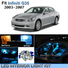 9pcs Bright Ice Blue Interior LED Light Package Kit For 03-07 Infiniti G35 Coupe
