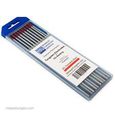 "TIG Welding Tungsten Rod Electrodes 2%Thoriated 1/8"" x 7"" (Red, WT20) 10PK"