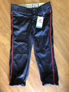 Easton Prowess Piped Pant Black/ Red Size M New With Tags Softball Girls Pants