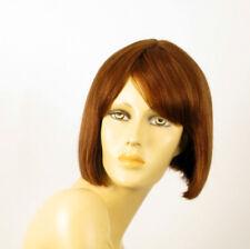 perruque femme 100% cheveux naturel châtain clair cuivré ref MAIA 30
